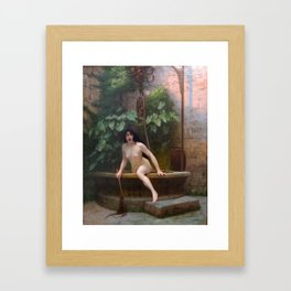 Truth Coming Out Of Her Well To Shame Mankind Jean-Leon Gerome Framed Art Print