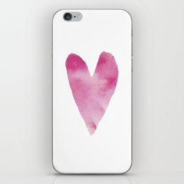 Watercolour heart iPhone Skin