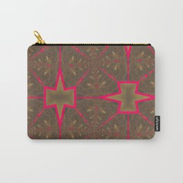 Pinkbrown(blue) Pattern 4 Carry-All Pouch