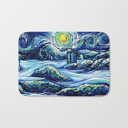 Tardis Lost In The Middle Wave Bath Mat