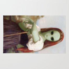 Bouguereau's Alien Shepherdess Rug
