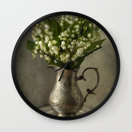 Lily of the valley Wall Clock
