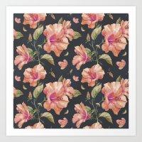 hibiscus Art Prints featuring Hibiscus by 83 Oranges™