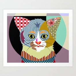 Spectrum Cat Art Print