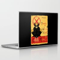 xmen Laptop & iPad Skins featuring Wolvy the black cat by le.duc