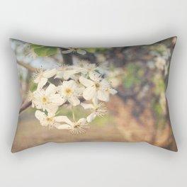 Pear Tree Blossoms Rectangular Pillow