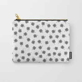 Light Gray Clover Carry-All Pouch
