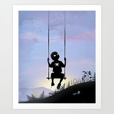 Spider Kid Art Print