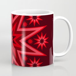 Fiery Red Flashing Fireworks Mandela Stars Coffee Mug
