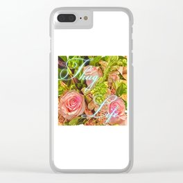 Thug Life Roses Clear iPhone Case