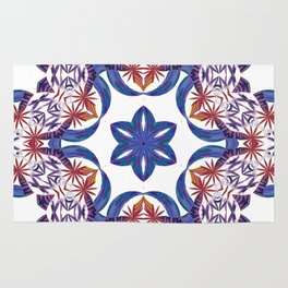 Red Palm Spin Rug