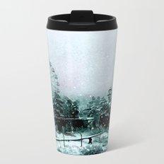 Cold Forest Playground Metal Travel Mug