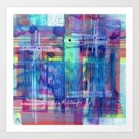 plaid Art Prints featuring Plaid by Julie M Studios