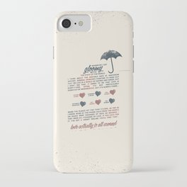 Love Actually iPhone Case