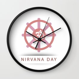 Buddhist celebration of Nirvana Day- A day which means Enlightenment after death, Enlightenment without remainder, Enlightenment without residue Wall Clock