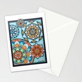 Orange and Turquoise Mandalas Stationery Cards