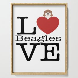Love Cute Beagles Serving Tray