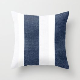 Nautical Blue White Stripes Throw Pillow