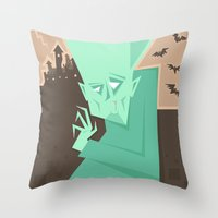 vampire Throw Pillows featuring Vampire by 5wingerone