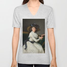Elisabeth Louise Vigée Le Brun - Comtesse de la Châtre Unisex V-Neck