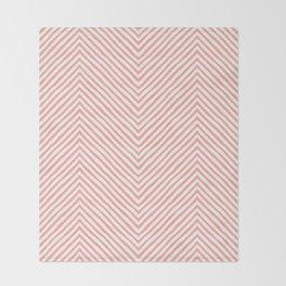pink zigzag. retro Throw Blanket