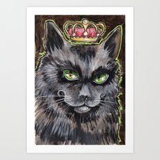 King Cat Art Print