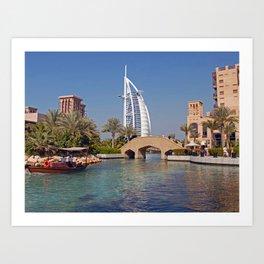 Burj Al Arab Hotel Art Print