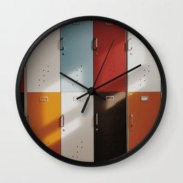 Color lockers Wall Clock