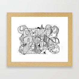 Squoodle 1 Framed Art Print