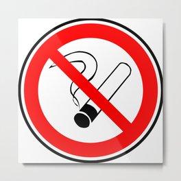 No Smoking Sign Metal Print