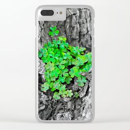 Clover Cluster Clear iPhone Case