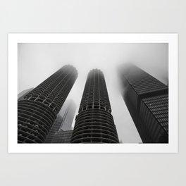 Foggy Chicago Morning 006 Art Print