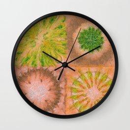 Murdering Nature Flowers  ID:16165-102100-72860 Wall Clock