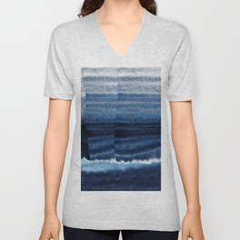 Blue Escape Watercolor Unisex V-Neck