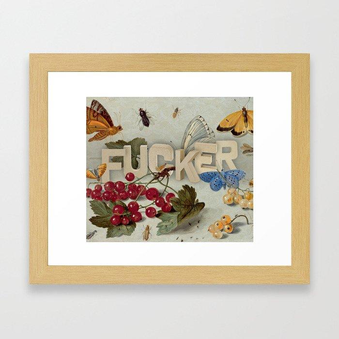 Fucker Framed Art Print