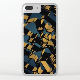3D Mosaic BG Clear iPhone Case