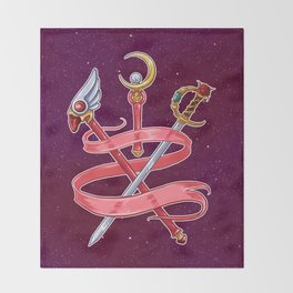 Fight Like a Magical Girl Throw Blanket
