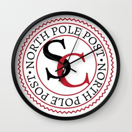 North Pole Post S.C. Wall Clock