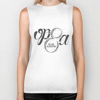 scandal Biker Tanks featuring Scandal - Olivia Pope & Associates by linebyline