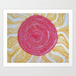 Slyvia's Sun Art Print
