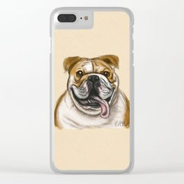 Smiling Bulldog Clear iPhone Case
