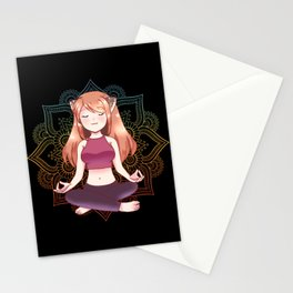 Yoga Meditation Mandala Yoga Girl Namaste Gift Stationery Cards
