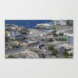 Seattle from the Space Needle Canvas Print