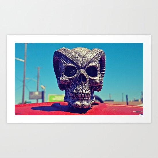 Evil hood ornament Art Print