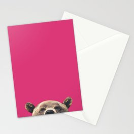 Bear - Pink Stationery Cards