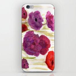 Dancing poppies iPhone Skin