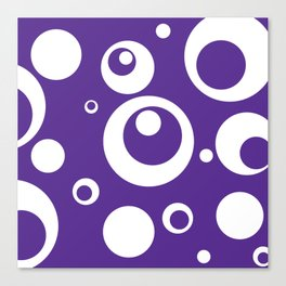 Circles Dots Bubbles :: Grape Juice Canvas Print