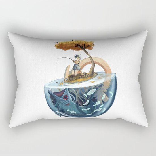 Catching Gravity Rectangular Pillow