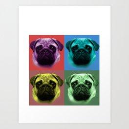 Pug,pop art design Art Print