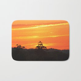 Red Sky Sunset with Red Robin Bath Mat